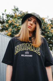 Melbourne College tee - Black