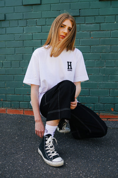 Basic College tee - White
