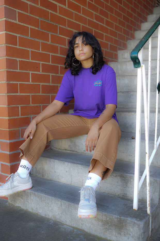 Monogram t-shirt - Purple