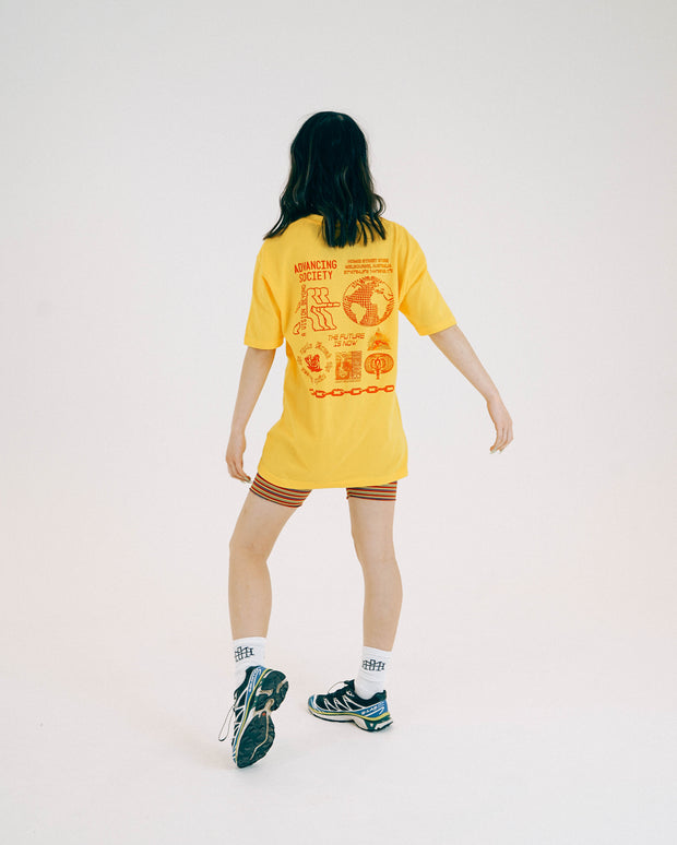 Advancing Society tee - Sunflower Yellow