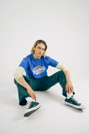 Globe tee - Royal Blue