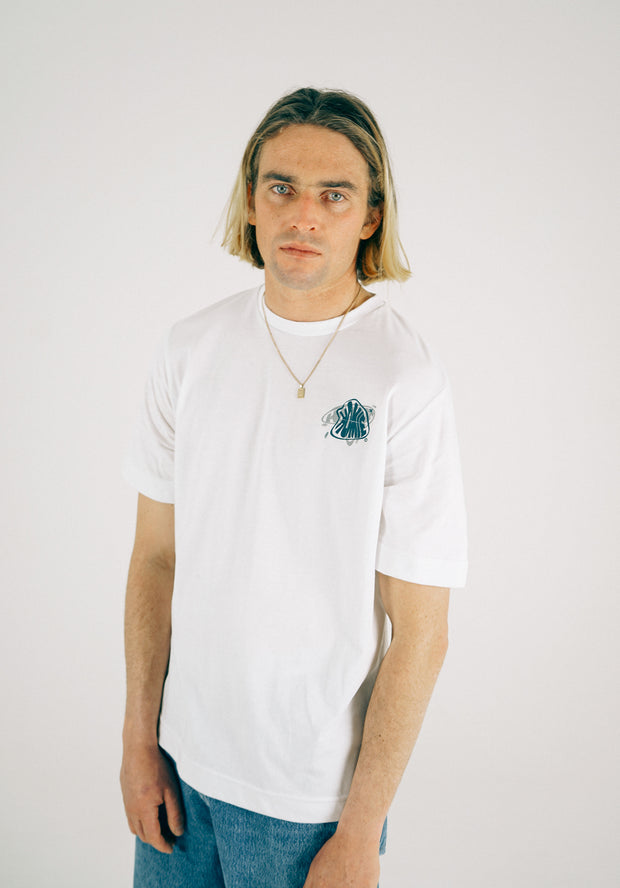 Warped tee - White