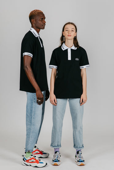 Stitch collar polo