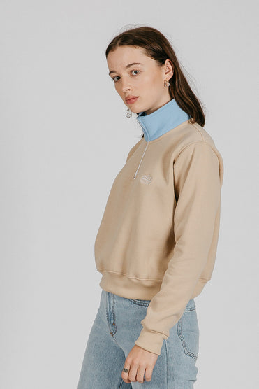 High neck pop crop