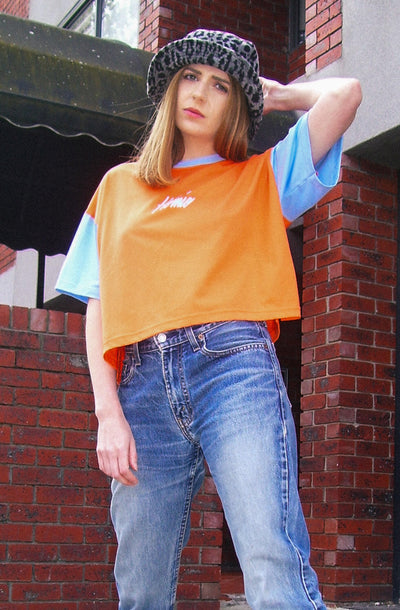 Homie boxy crop tee - Orange