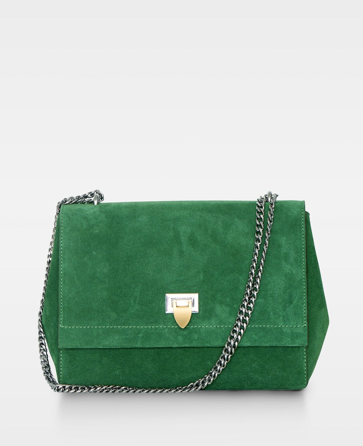 Eira Medium Bag in Suede Green