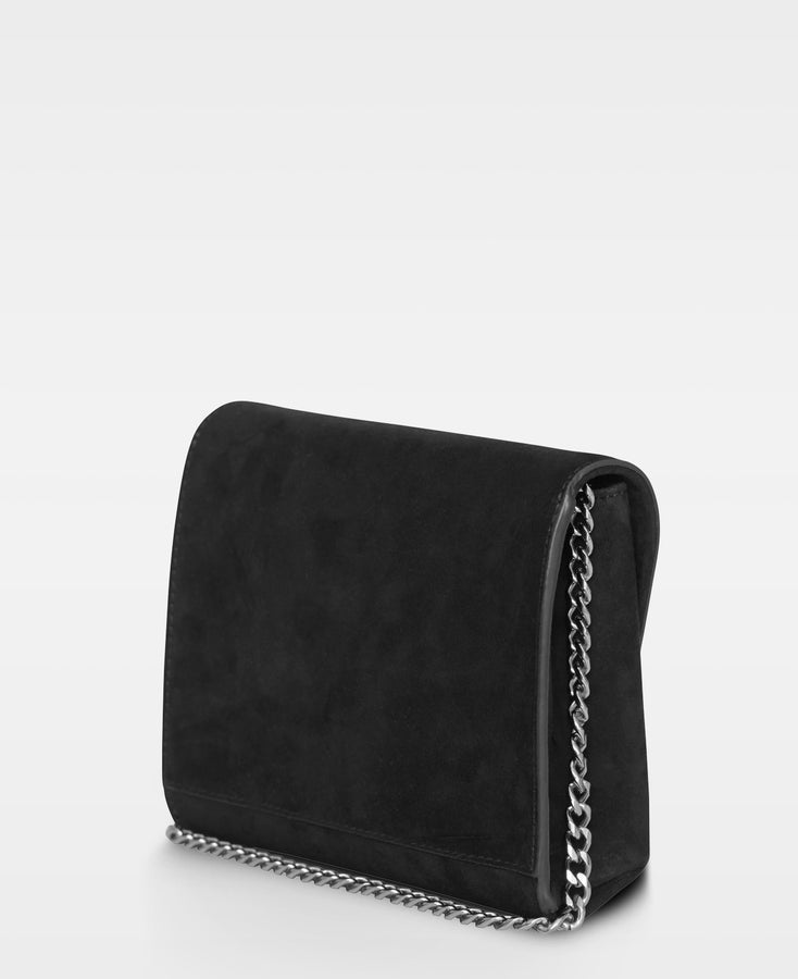 Cleva small pouch in Suede Black
