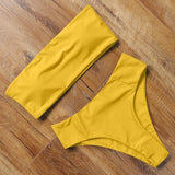 Yellow High Waist Two Piece