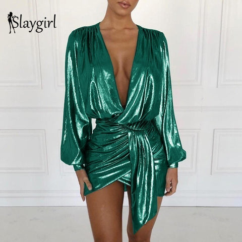 Slaygirl Wrap Bodycon Dress