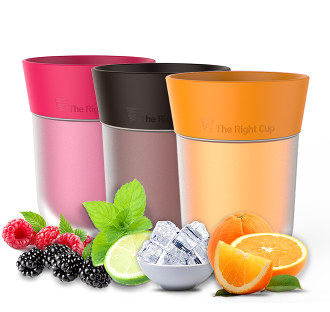 Pack of Orange, Cola and Berry flavored cups