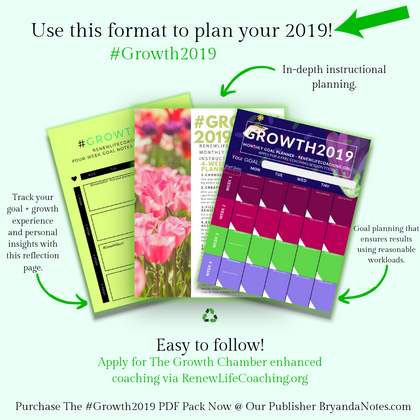 #Growth2019 4 Week Goal Planning PDF Pack!