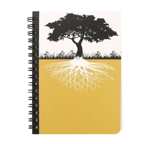 Yellow Tree of Life Mini Notebook