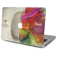 Left + Right Brain Laptop Skin Stickers for Mac