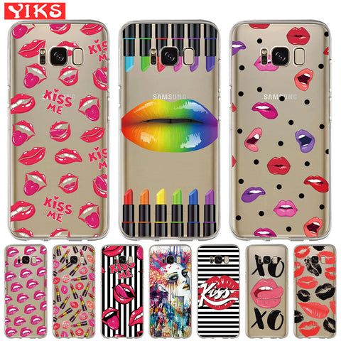 Sexy Kiss Lip Gloss Phone Cover Case (Silicone Soft)