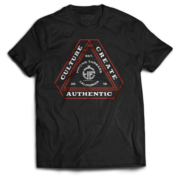 CULTURE. CREATE. AUTHENTIC. BLACK TEE - HMONG THREADS