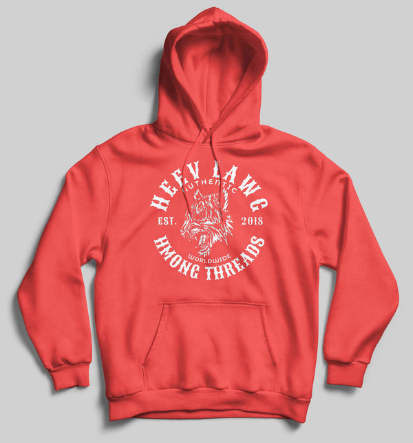 HEEV LAWG - HEATHER RED HOODIE - HMONG THREADS