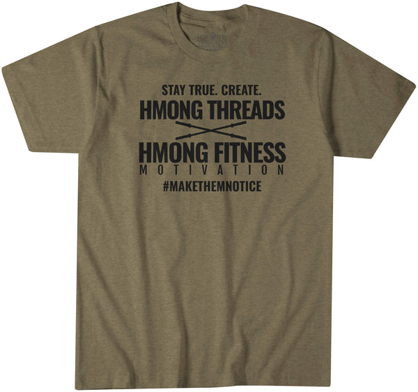 Hmong Threads X Hmong Fitness & Motivation - MILITARY GREEN - HMONG THREADS