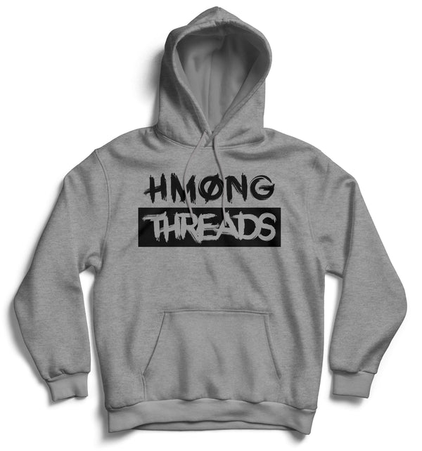 HMONG THREADS BOXED UNISEX HEATHER GREY HOODIE - HMONG THREADS