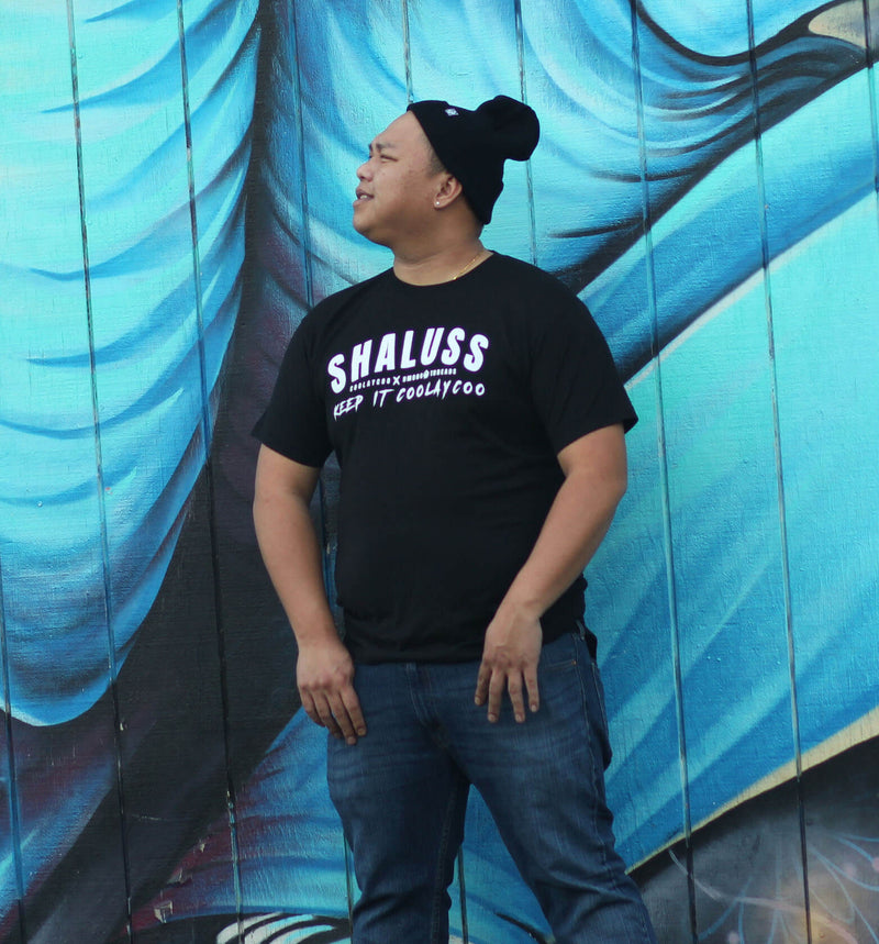 SHALUSS - COOLAYCOO COLLABO - BLACK TEE - HMONG THREADS