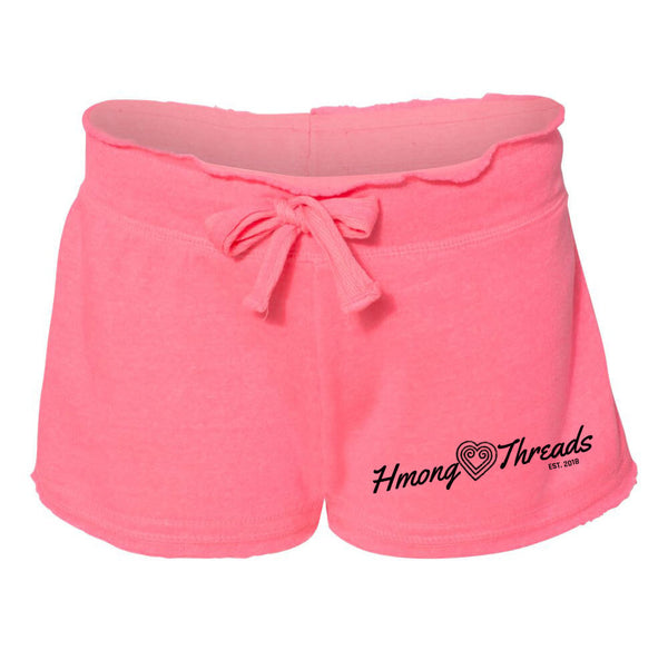 Hmong Heart Threads Ladies' Shorts - PINK - HMONG THREADS
