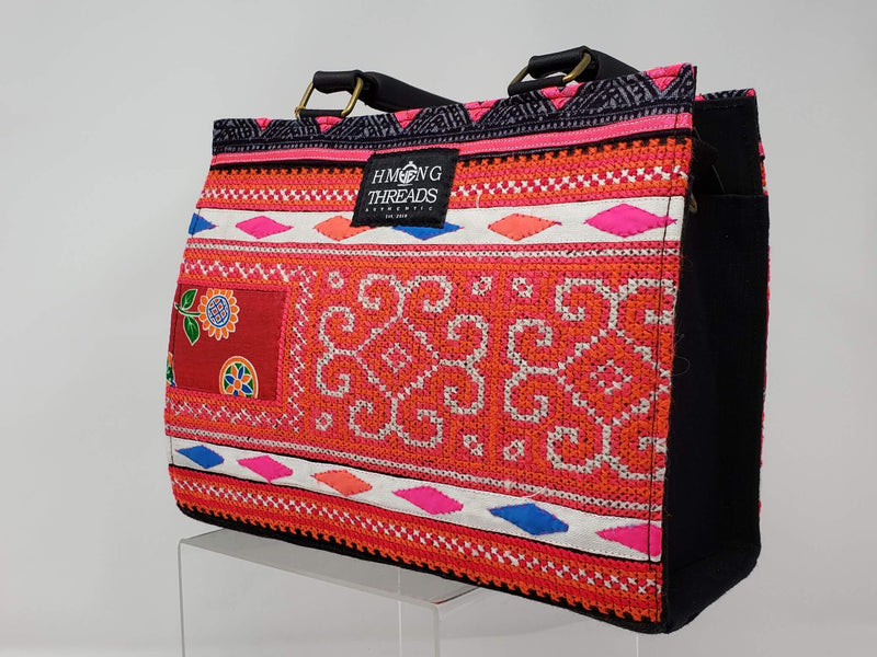 Hmong Diamond Embroidery Handbag - HMONG THREADS