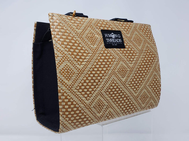 Hmong Bamboo Designed Handbag Elongate Diamond - HMONG THREADS