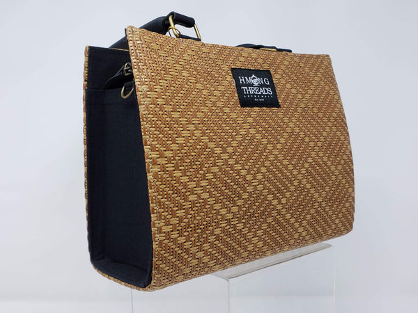 Hmong Bamboo Designed Handbag Diamond - HMONG THREADS