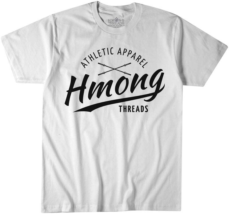 CLASSIC HMONG THREADS ATHLETIC APPAREL WHITE T-SHIRT - HMONG THREADS