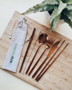 Reusable Utensil Set, by Eco Friends - Glow + Gifts