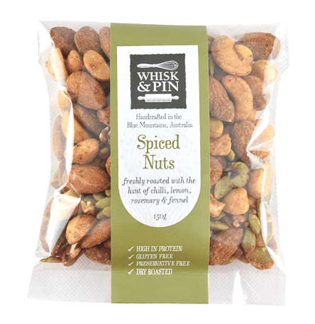 Spiced Nuts 150gm, by Whisk and Pin