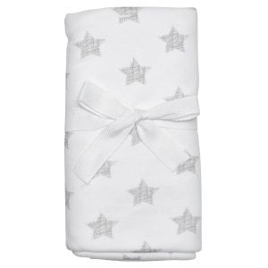 White & Grey Star Baby Blanket