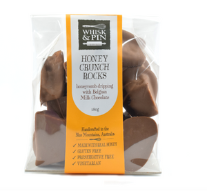 Milk Chocolate Honey Crunch Rocks 180gm, by Whisk & Pin