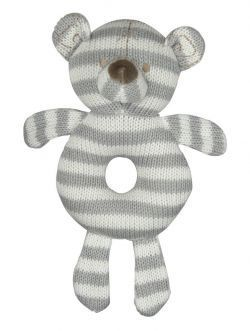 White & Grey Bear Rattle