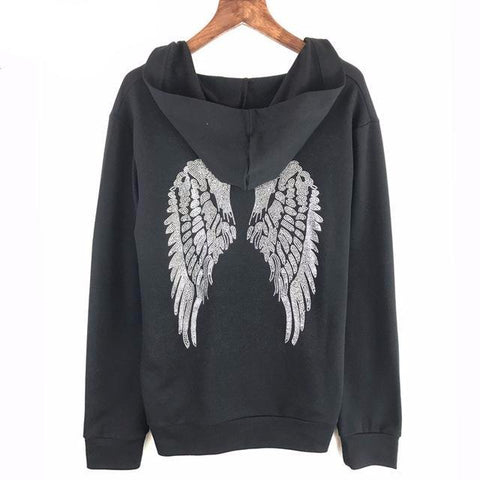 Hooded Angel Wing Pullover