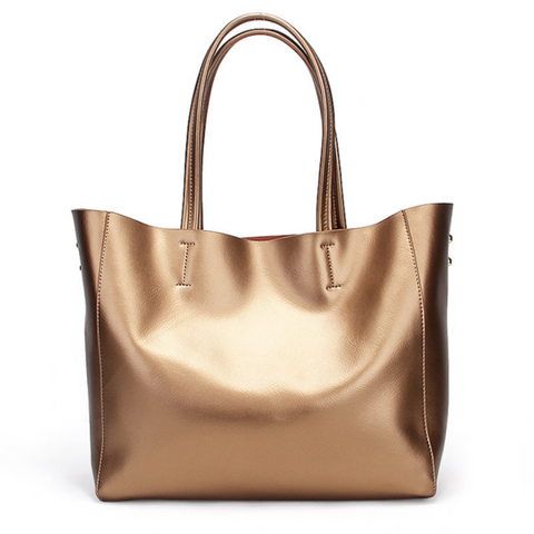 The Luxe Leather Shopper