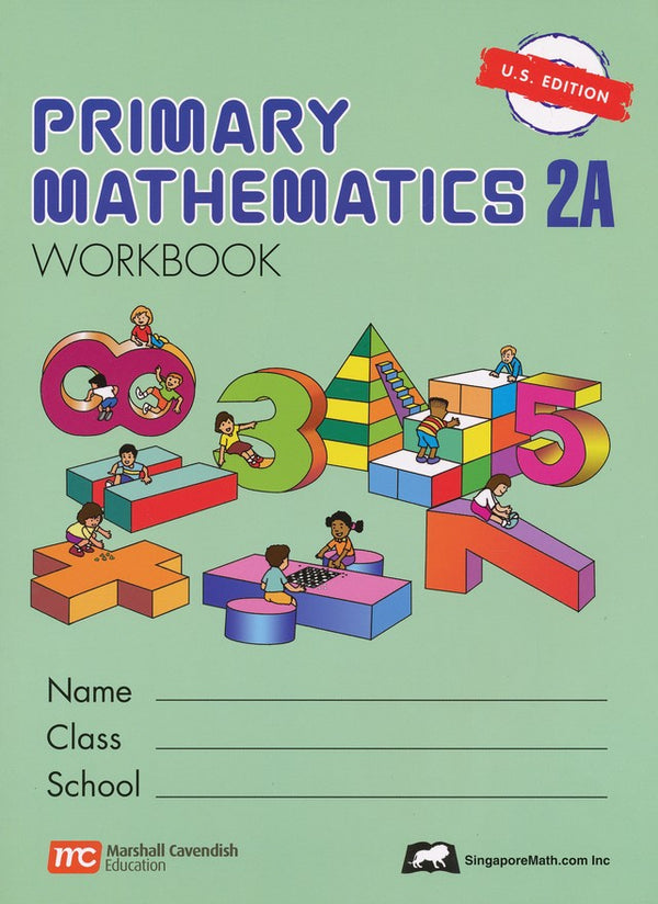 Singapore Math: Grade 2 Primary Math 7 books Bundle (Textbooks + Workbooks + Intensive + Challenge Word Problems, US Edition)