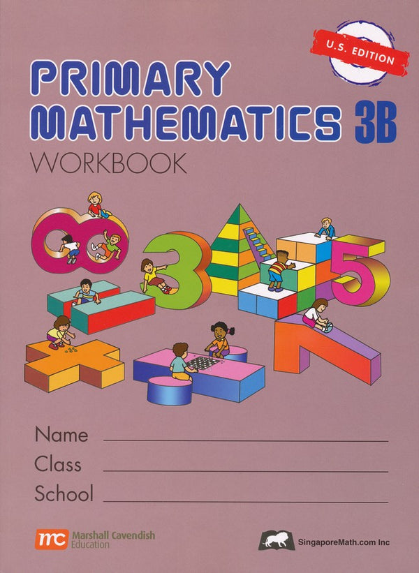 Singapore Math: Primary Math Grade 3 Textbook & Workbook 4 books Set