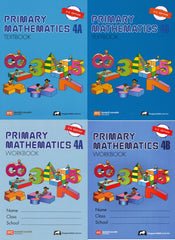 Singapore Math: Grade 4 Primary Math ( US Edition) Textbook 4A & 4B + Workbook 4A & 4B ( 4 books Set )