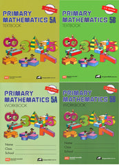 Singapore Math: Grade 5 Primary Math ( US Edition) Textbook 5A & 5B + Workbook 5A & 5B ( 4 books Set )