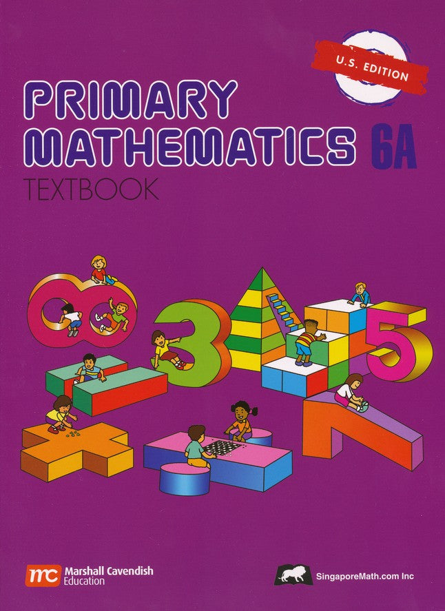 Singapore Math (Primary Math) Grade 6 Textbook & Workbook 4 books ...