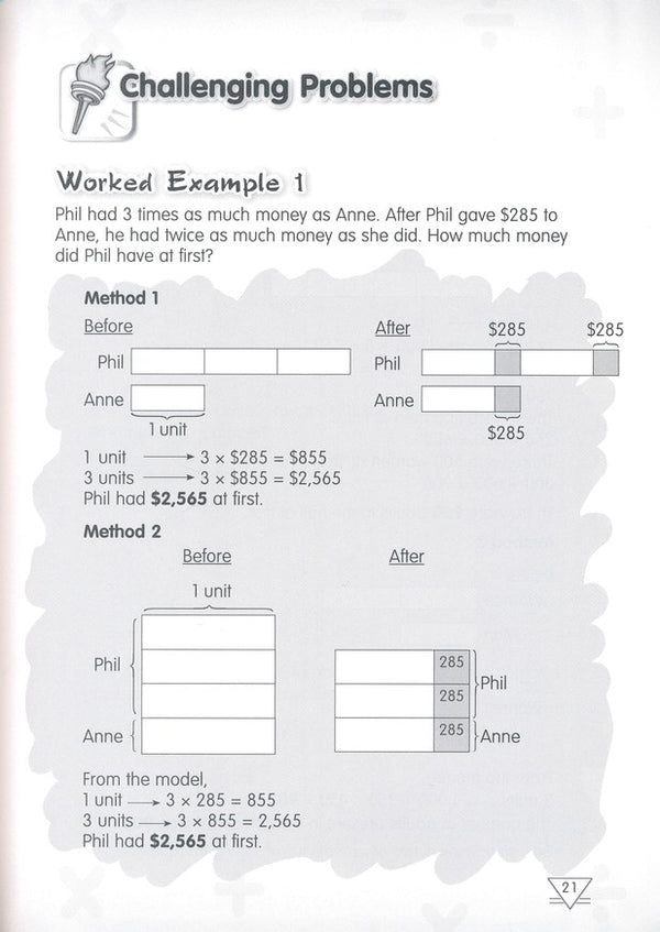 Singapore Math: Grade 4 Primary Mathematics Challenging Word Problems  (Common Core Edition)