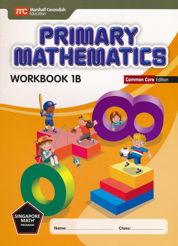 Singapore Math: Grade1 Primary Math Textbook 1A & 1B + Workbook 1A & 1B (4 books set, Common Core Edition)