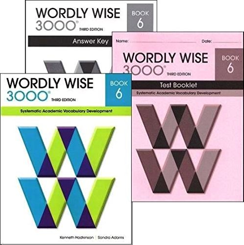 Wordly Wise 3000 Grade 6 SET Student Answer Key And Tests Systematic Academic Vocabulary Development