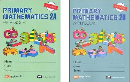 Singapore Math :  Grade 2 Primary Math Workbook Set 2A & 2B (US Edition)