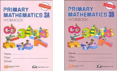 Singapore Math: Grade 3 Primary Math Workbook Set 3A & 3B (US Edition)