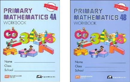 Singapore Math: Grade 4 Primary Math Workbook Set 4A & 4B (US Edition)