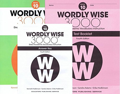 Wordly Wise 3000 Fourth Edition Student Edition + Test Booklet + Answer Key Set Grade 10
