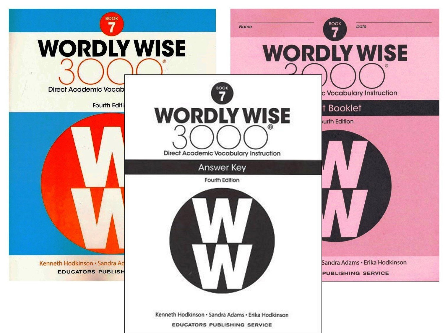 Wordly Wise 3000 4th Edition Grade 7 Set Student Book Test