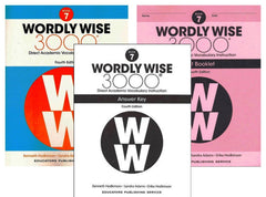 Wordly Wise 3000® 4th Edition Grade 7 SET -- Student Book, Test Booklet and Answer Key (Direct Academic Vocabulary Instruction)