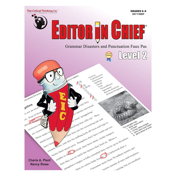 The Critical Thinking Editor In Chief Level 2 School Workbook